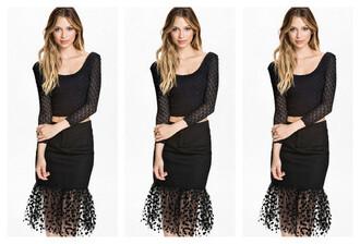 dress women little black dress dot tulle skirt top