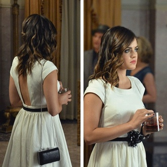 aria montgomery lucy hale pretty little liars white dress belt