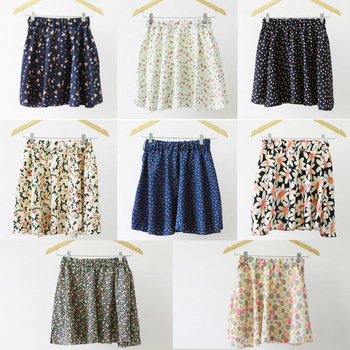 Summer Skirts 2014 Women Floral Vintage Chiffon Skirts with Woven Belt, Mint color Women Skirts With Shorts Linings 8 pattern-in Skirts from Apparel & Accessories on Aliexpress.com