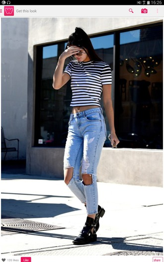 t-shirt jeans ripped jeans acid wash kendall jenner