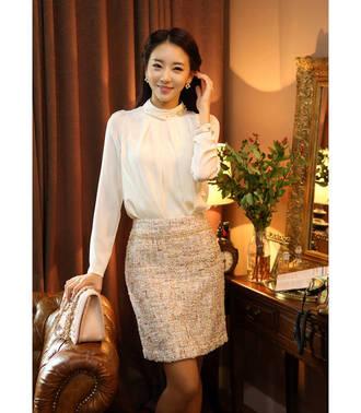 white blouse blouse korean fashion