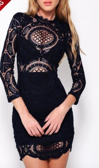 dress black dress lace