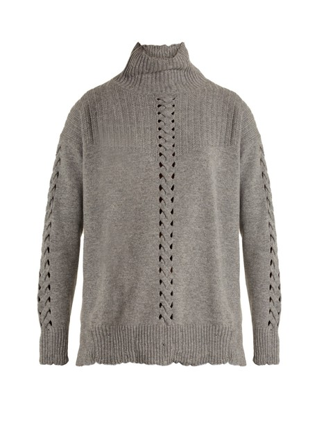 Barrie sweater high grey