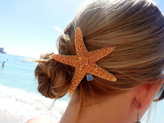sugar starfish hair clip by shandahawaiiandesign on etsy
