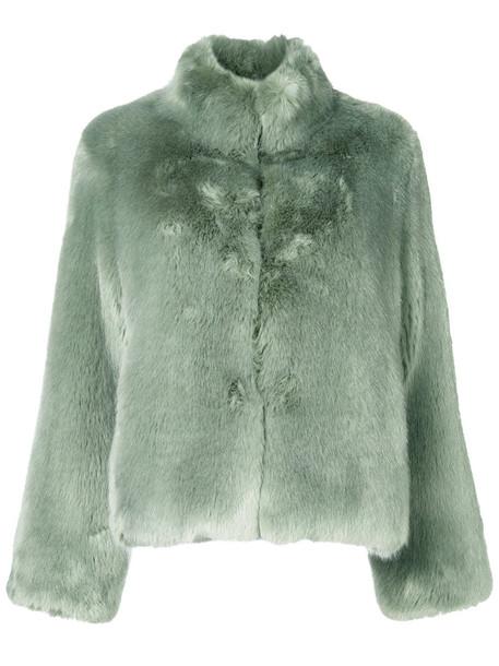 venus jacket fur jacket short fur women green