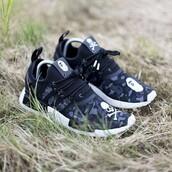 shoes,adidas,adidas nmd,mastermind,bape