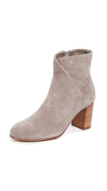 Soludos Mid Heel Venetian Booties in grey