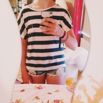 shorts phone denim shorts matrose blue and white striped panda phone cover