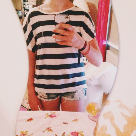 phone shorts denim shorts matrose blue and white striped panda phone case phone case