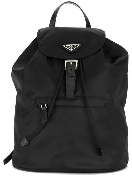 Prada women backpack black bag