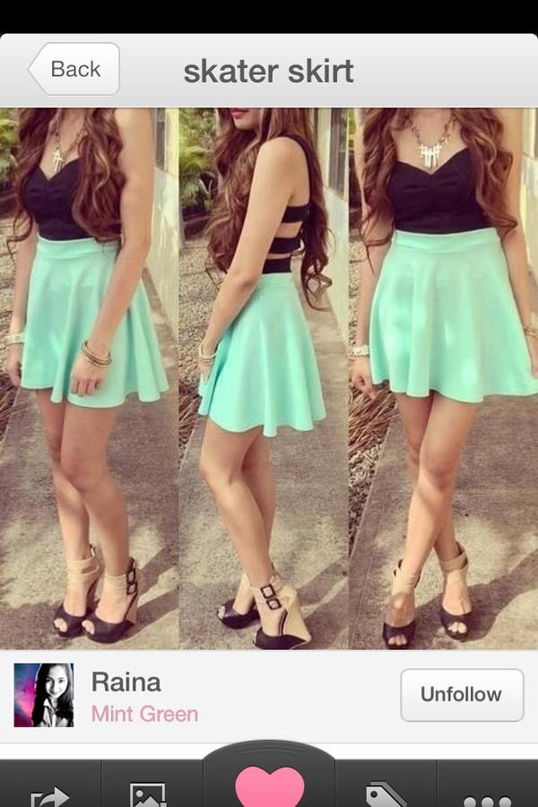 skirt skater skirt blue skirt dressy