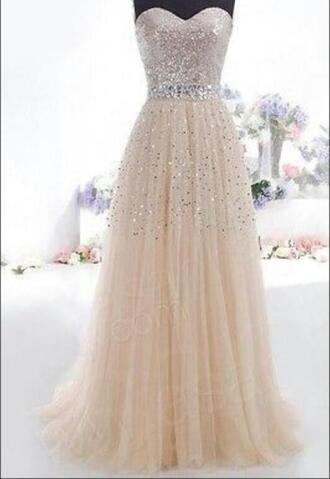 dress prom dress prom 2k15 champagne prom dress gorgeous dress sparkly dress gold sequins lovely dress long prom dress