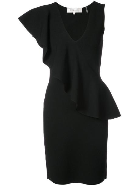 Dvf Diane Von Furstenberg dress asymmetrical women black