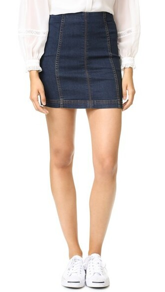 skirt denim blue