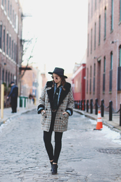 orchid grey,blogger,coat,hat,sunglasses