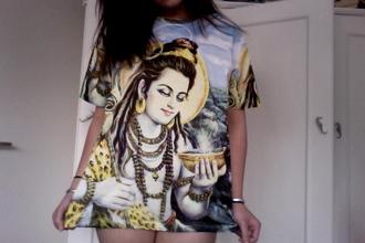 t-shirt hindu blouse