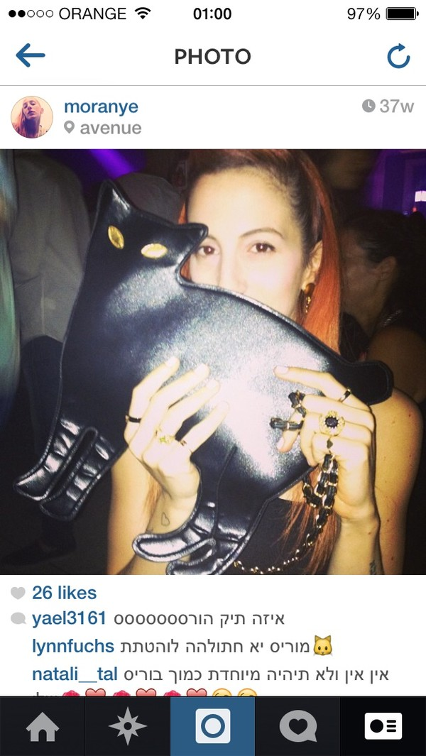 bag black cat clutch