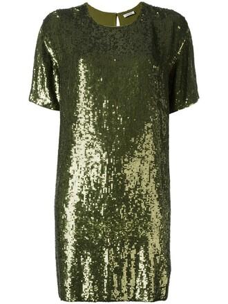dress shift dress women green