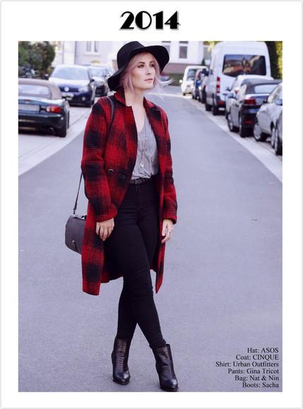 blogger bag tartan felt hat jewels like a riot