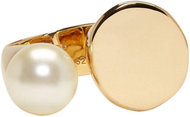Chloe pearl ring gold jewels