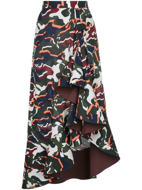 Dion Lee skirt women camouflage spandex print silk