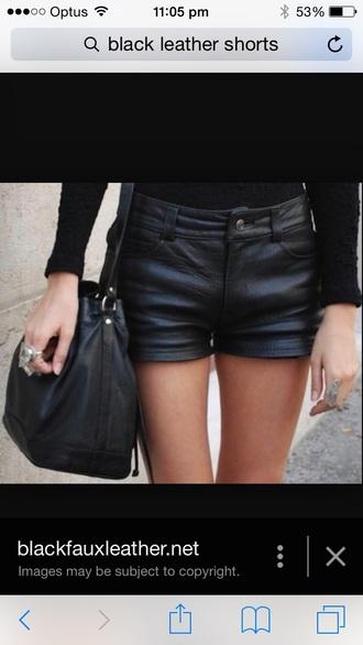 shorts leather shorts black shorts