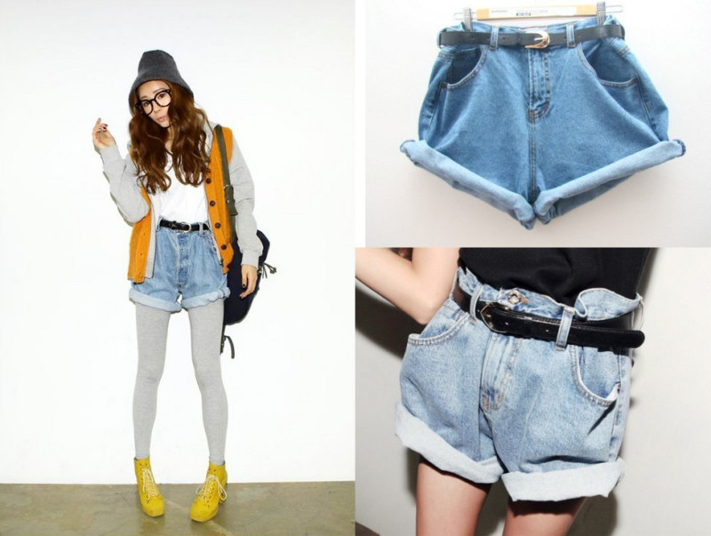 Fashion IT Girl Oversize High Waisted Crimping Boyfriend Jeans ...