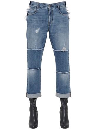 jeans denim patchwork blue