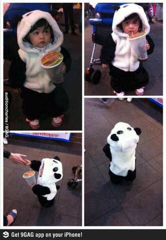 coat panda baby cute lovely panda suit baby panda suit