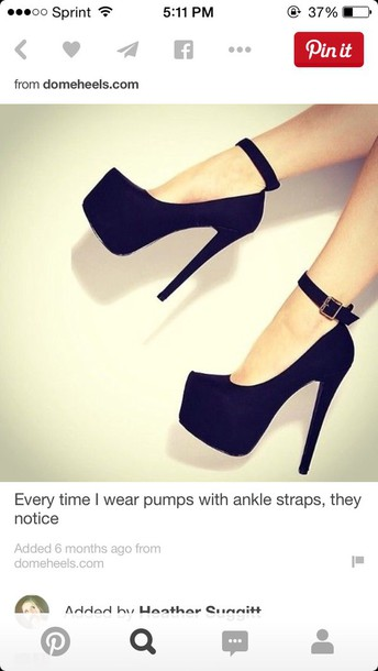 shoes black ankle strap heels prom shoes