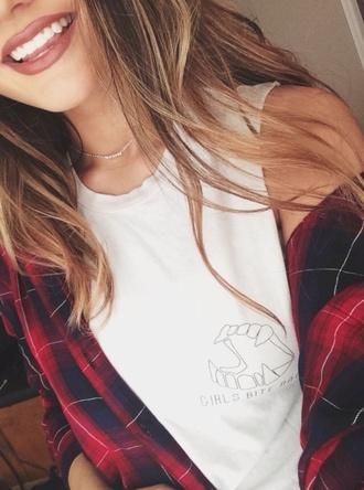 shirt white shirt flannelshirt