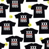 shirt,1995,xx,black,white,red,women's t-shirt,crewneck,sweatshirt,dope,swag