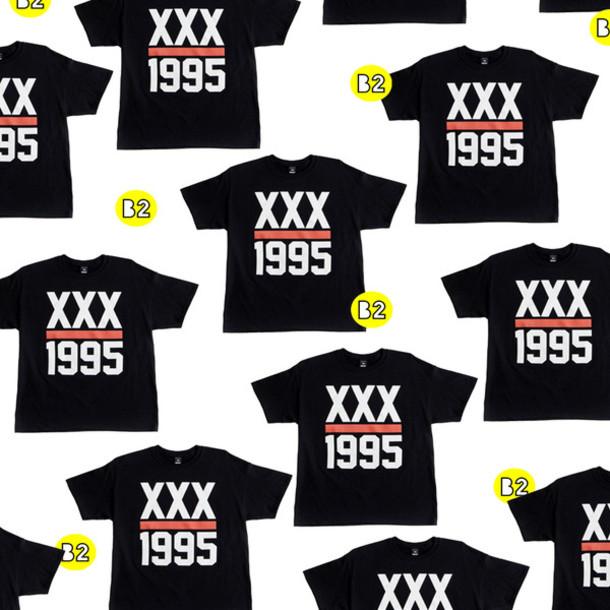 shirt 1995 xx black white red women's t-shirt crewneck sweatshirt dope swag swag