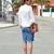 Con zapatos nuevos: Ripped : DENIM SKIRT