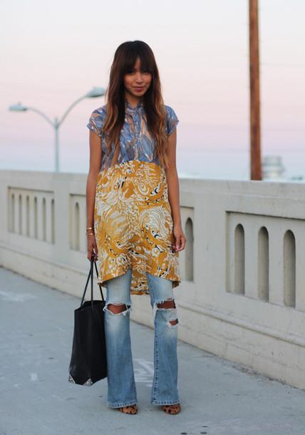 sincerely jules dress jeans shoes bag jewels
