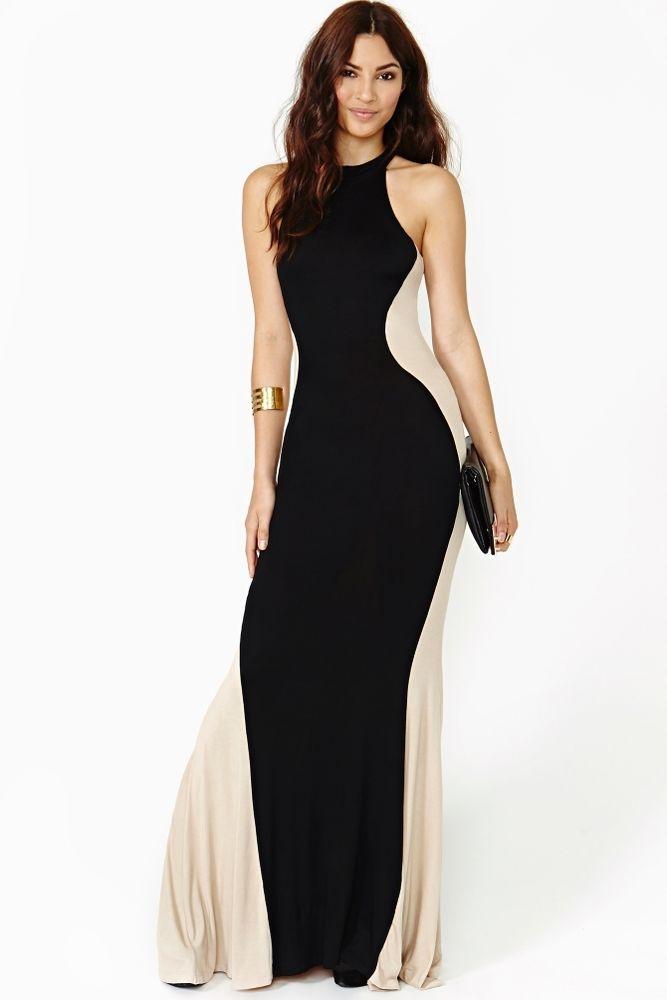 Celeb Style Slimming Silhouette Illusion Panel Fishtail Hem Maxi Dress 8-14 NEW | eBay