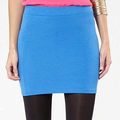 blue mini tube skirt - Mini skirts - Skirts - Women -