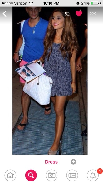 dress ariana grande dress navy dress