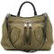 Moschino - pocket detail tote bag - women - cotton/leather - one size, green, cotton/leather