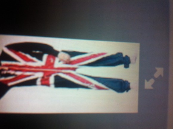 english flag sweater jumpsuit
