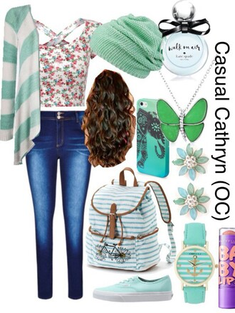bag blouse cardigan