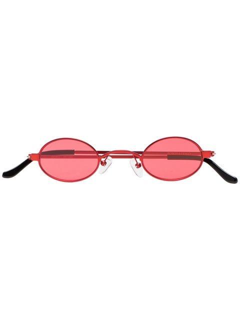 Roberi & Fraud Red Doris Round Frame Sunglasses - Farfetch
