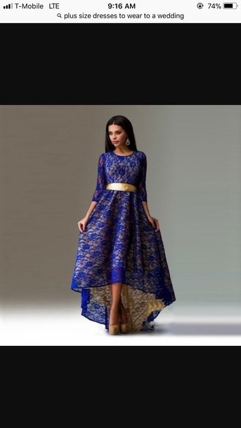 dress lace dress royal blue mermaid
