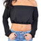 Emprada harmony off-the-shoulder chiffon crop top | emprada