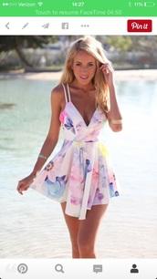 dress,romper,floral,pastel