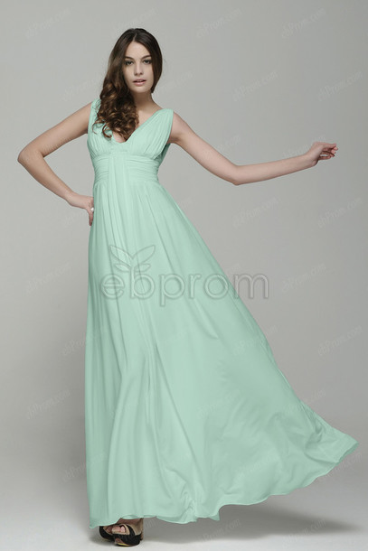 Simple Elegant Long Evening Dress
