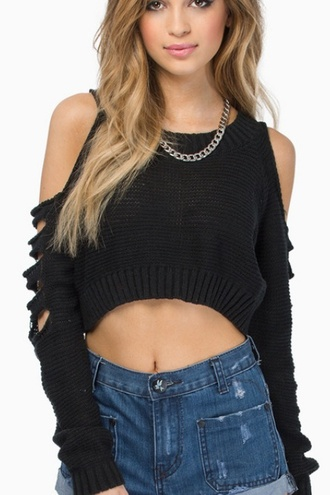 black crop top sweater cropped sweater crop tops off the shoulder sweater