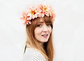 hair accessory,flower crown,coral,daisy crown,festivallook,festival