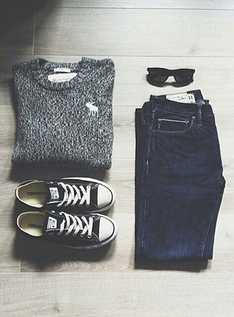 sweater grey burnout comfy