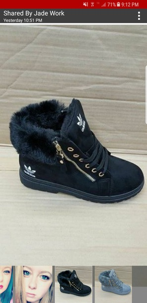 shoes adidas shoes adidas boots with fur